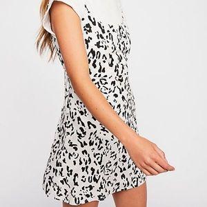 Free People Cheetah Print Mini Dress